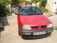 VW Golf 1.6 CL, 9mths MOT, Very reliable solid car