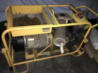 Factair Compair Hydrovane Portable Petrol Engine Powered Compressor Mobile
