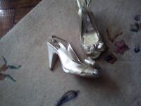 ladies next size 6 gold shoes