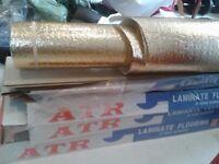 White Laminate Flooring (3 packs) 8mm with Underlay