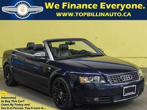2006 Audi S4 Convertible, Clean Carproof, 133K