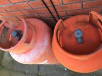 2 x 47KG gas bottles. Empty