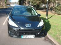 PEUGEOT 207,1400CC,5DOOR.BLACK.2010