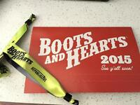 2 General Admission Passes to Boots and Hearts
