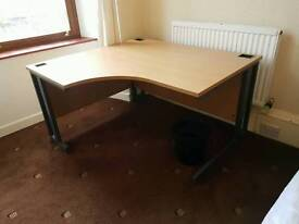 Large corner office study desk