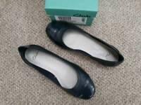 Ladies, blue slip on Shoes, size 4