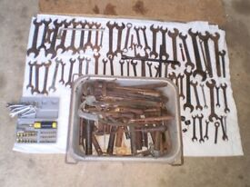 Vintage Spanners, Soldering Irons, Files, Tools etc. Ideal Boot Sale or Classic Car Enthusiast.