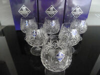 "6 x Edinburgh 'Berkeley' Crystal Brandy Glasses 4 3/8"""