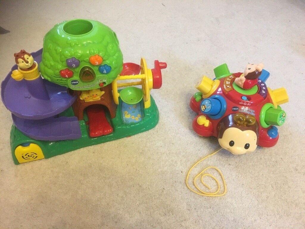 V-Tech ladybird and apple tree toys