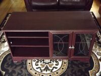TELEVISION STAND AND CABINET (MAHOGANY)