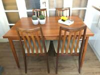 G-Plan Table and chairs Free Delivery Ldn midcentury Retro 60s'