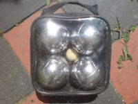 4 STEEL FRENCH BOULES (BOWLS) PETANQUE BALL SET