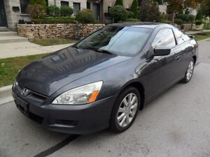 2006 Honda Accord EX V6, LEATHER, ROOF, CERTIFIED, SPOILER, LOAD
