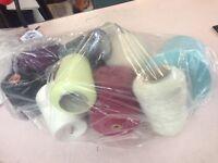 Yarn lot mixed wool, cotton etc