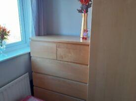 Ikea Wardrobe & Chest of Drawers