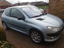 SILVER PEUGEOT 206 GTI 180 FOR SALE
