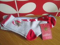 GIRLS BNWT CHRISTMAS SOCKS - SIZE 12.5-3.5 - FROM M&S