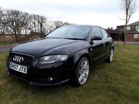 """Audi A4 sline 2.0 tdi full leather sat nav 18"""" alloy Full MOT"""