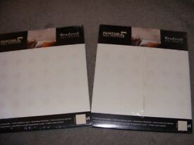 2 packs of 4 NEW Readyroll self adhesive paintable wall profiles