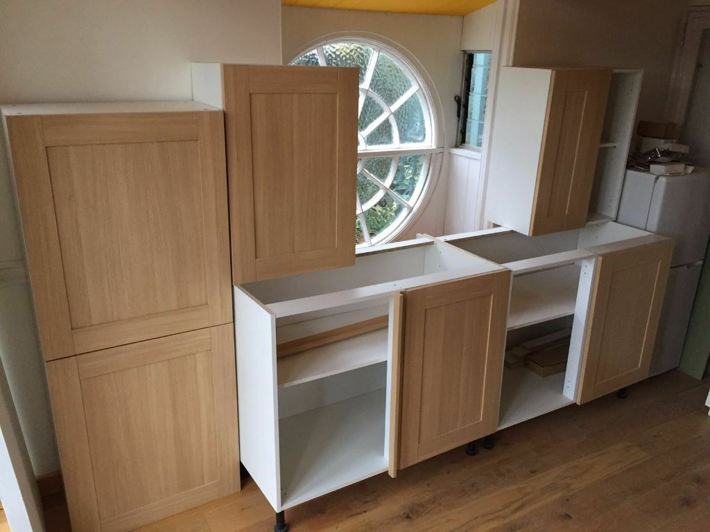 Wickes Kitchen Wall Cabinets Wickes Tulsa Oak Effect Kitchen Units New Assembled Rrp Alb419 In