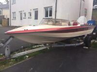 Global sabre speed boat 2 stroke 70hp engine hasn't long had engine rebuild swaps welcome