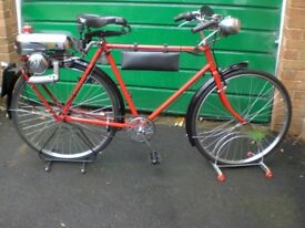 Trojan mini motor fitted to gents Raleigh cycle