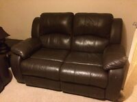 Leather Recliner Sofa - 2 Seater