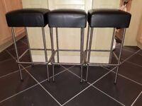 3 matching kitchen stools