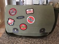 Hornsby SCALEXTRIC Green Canvas Bag with inside zip pocket, adjustable strap & badges