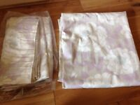 Laura Ashley curtains (lined, pencil pleat)