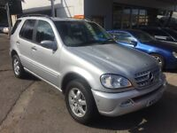 2001 51 MERCEDES ML 500 AUTO LPG CONVERTED 7 SEATS TOW BAR FULL MOT TINTED PARKING SENSORS LEATHER