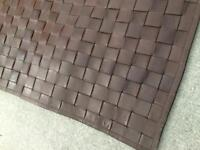 Chocolate Brown Leather Rug
