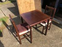 Table and 2 chairs with free delivery