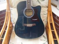 WESTFIELD ELECTRO-ACOUSTIC B220CEQ GUITAR WITH GIG BAG-OFFERS CONSIDERED