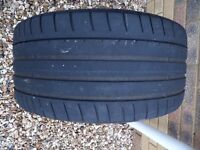 255 35 19 Dunlop Sport Maxx tyre very good condition Audi BMW Mercedes VW Porsche