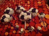 Cadburys purple wedding flower bundle