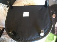 Hardly used black leather look chair perfect condition
