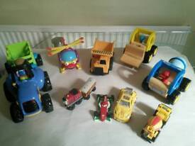 Preschool Various Toy Vehicles also Melissa and Doug Stacking Train
