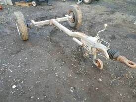 Fast tow trailer ex generator welder has fully working braked axle