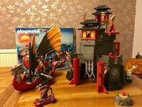 Playmobil Great Asian Dragon Castle & Dragon Battleship (Mint Condition)