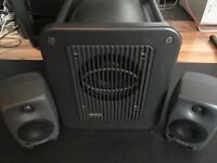 Genelec 8020A pair of active monitors with 7050B sub