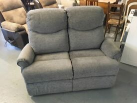 G PLAN GREY 2 SEATER SOFA, DELIVERY AVAILABLE