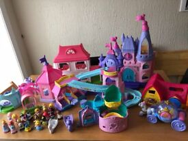 Huge collection of Fisher Price little people Disney princess toys