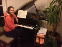 Piano lessons on a baby grand! Lewes....learn to write songs or play your favourite piece!