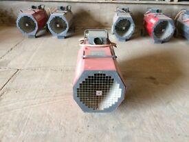 LPG Space Heaters x 6 - 500,000BTU Themostatic regulators available