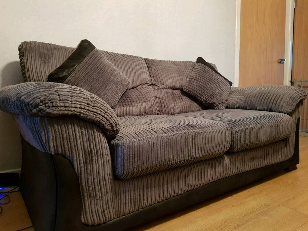 Grey 2 Seater Sofa And 3 Seater Sofa Bed In Portlethen