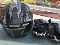 Motorcycle Helmet, Gloves & Leathers