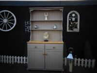 SOLID PINE FARMHOUSE WELSH DRESSER PAINTED WITH LAURA ASHLEY GREY COLOUR