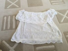 LIPSY ladies White Top size 8