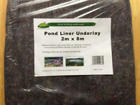 Pond Liners -Underlay - New/still baged- 8m x 2m pieces - 8 piece bundle